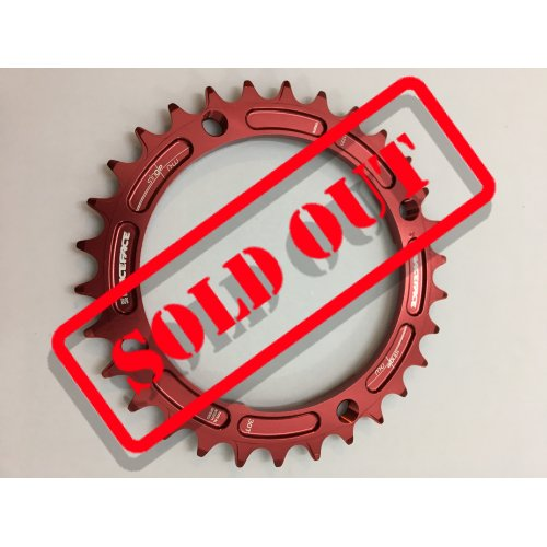 плоча  RACEFACE Chainring 30t Single Narrow Wide BCD 104mm 4 bolts Red