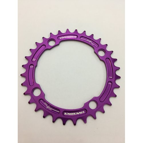 плоча  RACEFACE Chainring 32t Single Narrow Wide BCD 104mm 4 bolts Purple