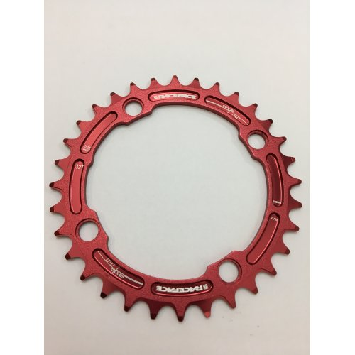 плоча  RACEFACE Chainring 32t Single Narrow Wide BCD 104mm 4 bolts Red