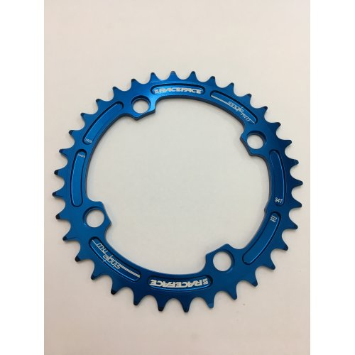 плоча  RACEFACE Chainring 34t Single Narrow Wide BCD 104mm 4 bolts Blue